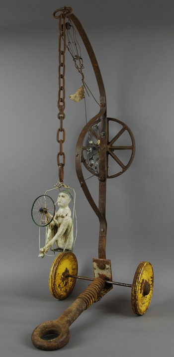 """Swing State"" Bu Terry Turell  Mixed media/found object sculpture"