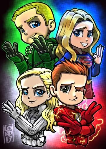 Arrow, Supergirl, Legends of Tomorrow, The Flash - All Renewed on the CW - by Lord Mesa.