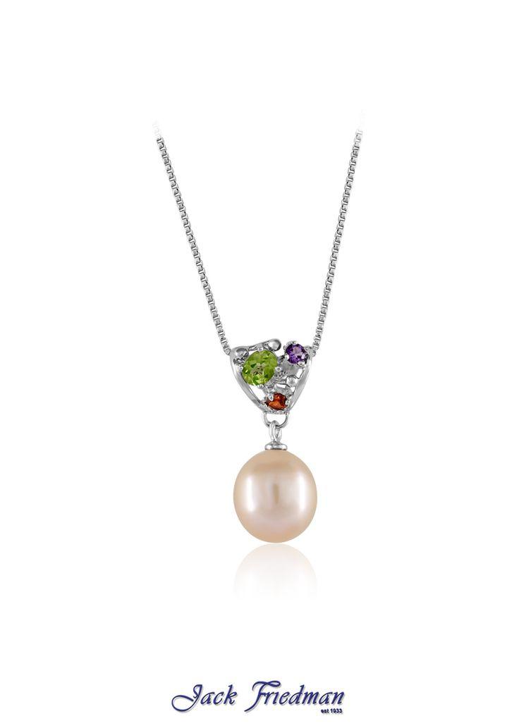 Fresh water pearl with gemstones set in silver jackfriedman.co.za