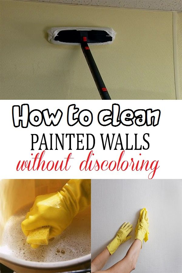 How to clean painted walls without discoloring