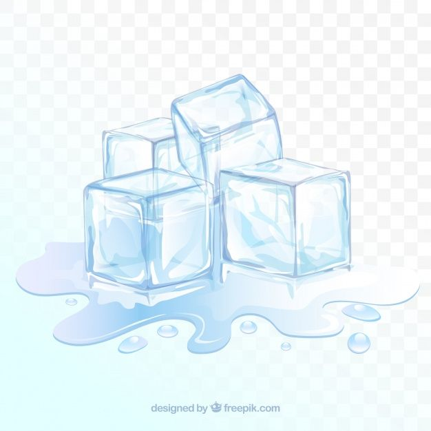 Ice Cube Background With Realistic Style Free Vector Art Vector Free Free Vector Clipart