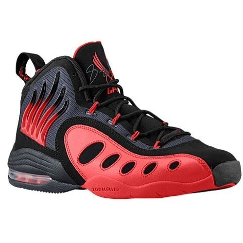 NIKE SONIC FLIGHT GARY PAYTON  BLACK (UNIVERSITY RED) FIRE SHOE GAME  #Nike #BasketballShoes