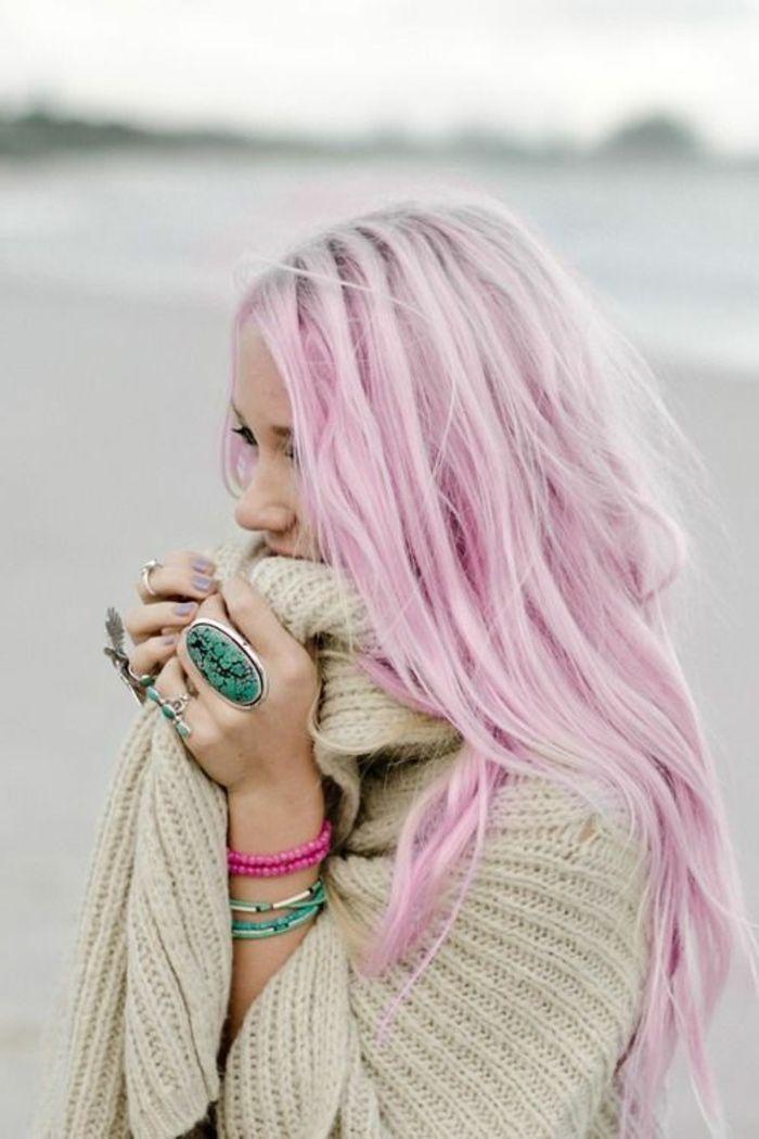 Bevorzugt Les 25 meilleures idées de la catégorie Cheveux rose pastel sur  XS96