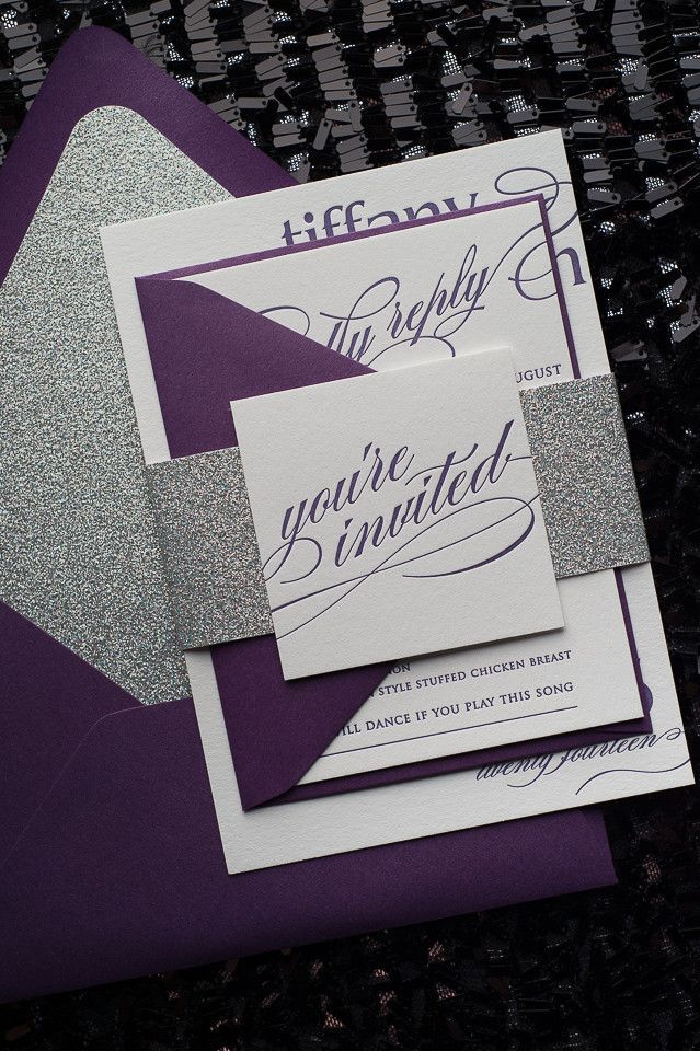 navy blue and kelly green wedding invitations%0A CYNTHIA Suite Glitter Package   Silver glitter  Letterpresses and Black  friday