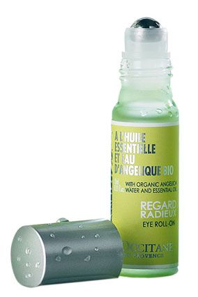 L'Occitane Angelica Eye Roll-On    The rollerball soothes puffy eyes on contact; essential oil derived from the angelica flower in the south of France boosts circulation to help alleviate dark circles.