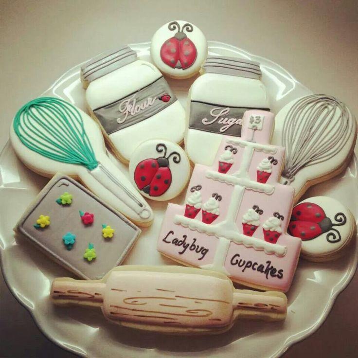 Lady Bug Baking Cookies