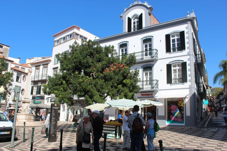 Madeira - Funchal. The centre of town is very pedestrian friendly. The cobbled streets, wide tree-lined boulevards and graceful medieval buildings are a delight to stroll around.