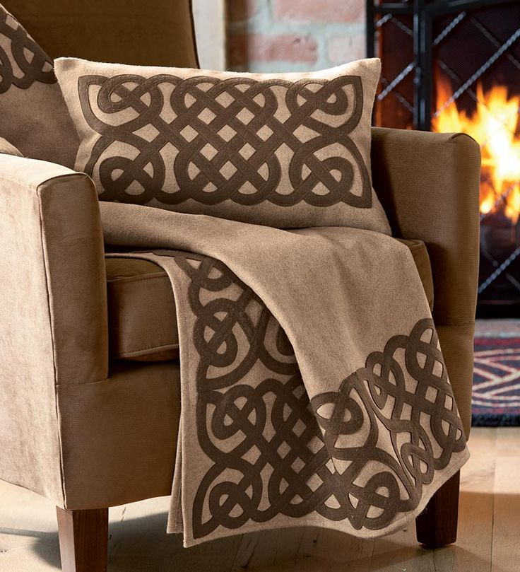 Wool Blend Celtic Knot Throw And Pillow Cover From Plow Hearth There Is A Store In The Hunt Valley Center Where Light Rail Stop Is