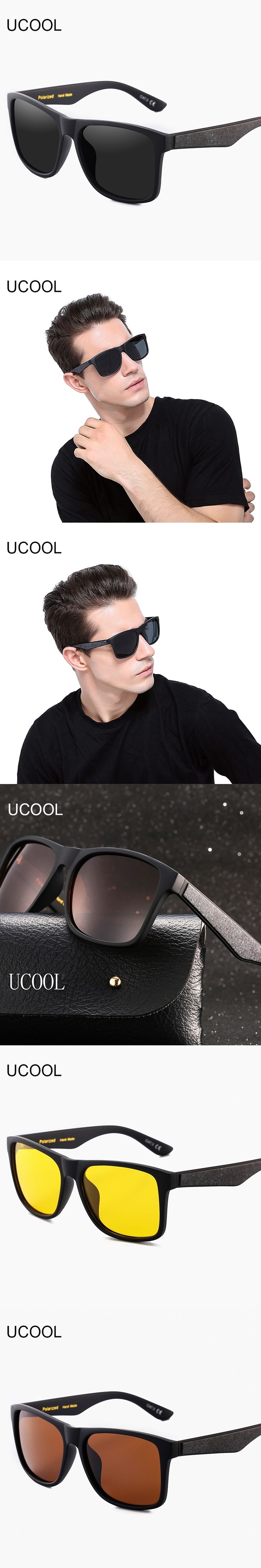 UCOOL Brand New Polarized Sunglasses Men Black Cool Sun Glasses High Quality Fishing Eyewear Oculos Gafas
