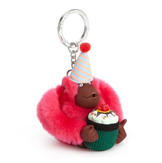 Birthday Monkey Keychain -- Kipling loves birthdays!