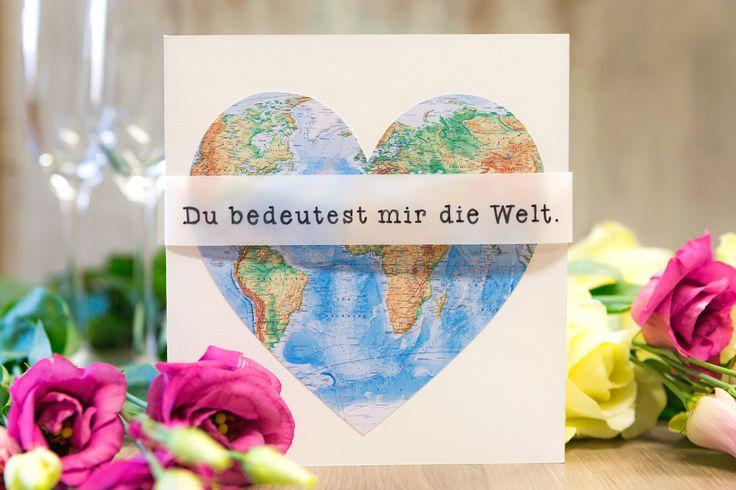 Zum Valentinstag haben wir eine ganz besondere Bastelidee. Besonders Weltenbummler werden das vielgereiste Herz sehr schätzen.