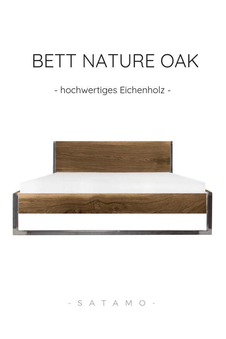 Bett nature oak jetzt online kaufen in 2019 m bel aus for Bett industriedesign
