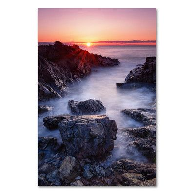 """Trademark Art 'Marginal Way Sun' by Michael Blanchette Photographic Print on Wrapped Canvas Size: 24"""" H x 16"""" W x 2"""" D"""