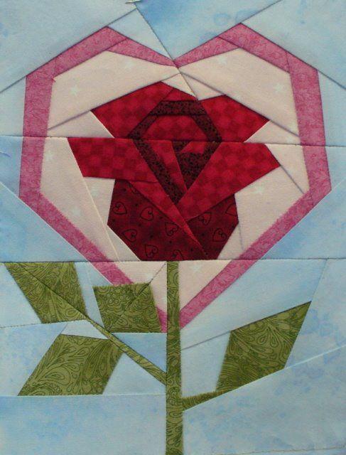 otra rosa mas de patchwork