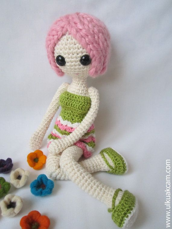 Amigurumi Pink Doll Pattern by Denizmum on Etsy, $8.00