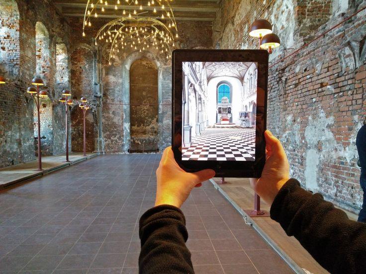 Augmented Reality viser, hvordan kirkerummet på Koldinghus oprindeligt så ud. (Video på https://youtu.be/_G3-NQyZ5lU )