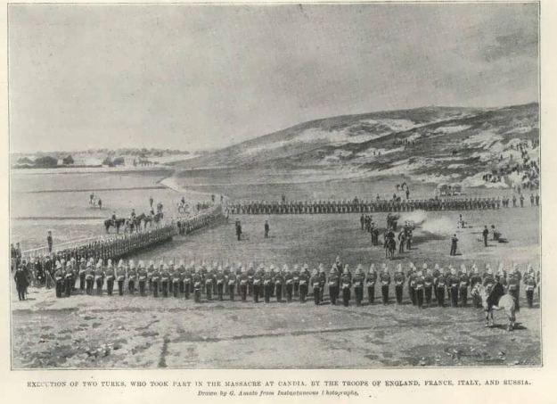 Execution of Cretan Muslim rioters. Canea 1898.