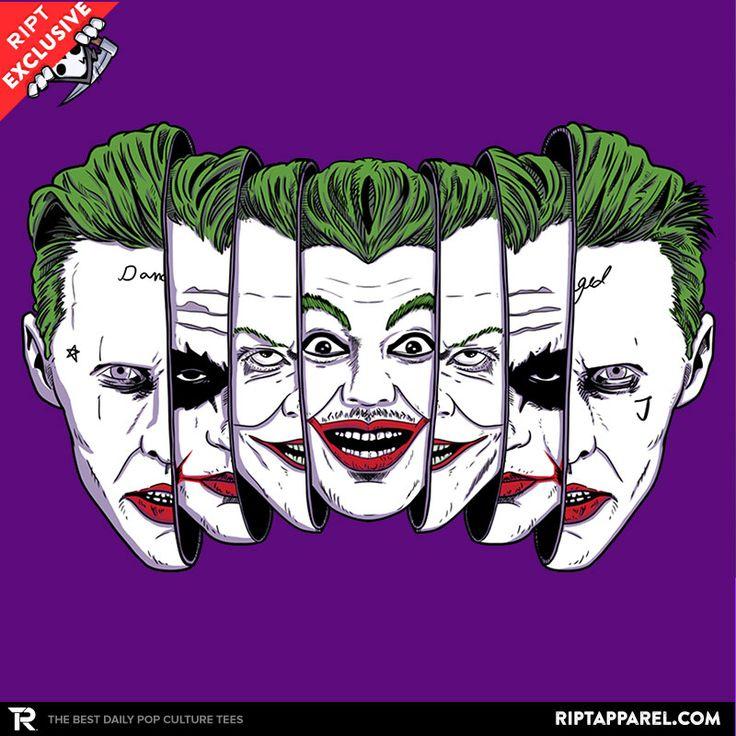 The Joke Has Many Faces T-Shirt - Joker T-Shirt is $11 today at Ript!