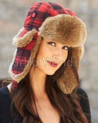 Shop FurHatWorld for the best selection of Fashion Rabbit Fur Trapper Hats. Buy the Womens Red Buffalo Check Rabbit Fur Trapper Hat by FRR with fast same day shipping.