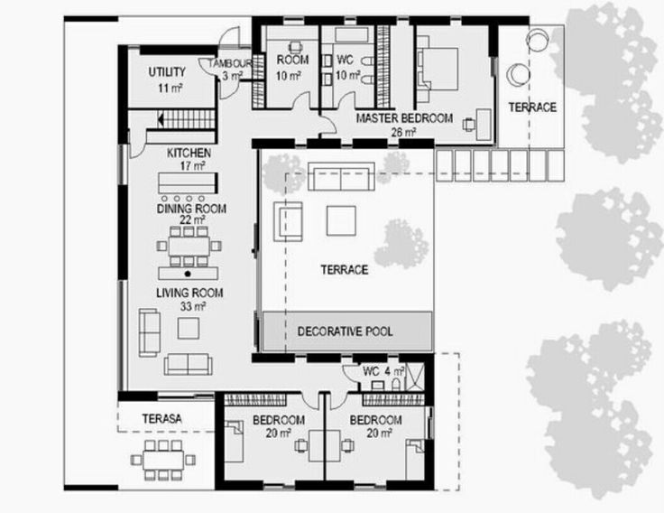 107 best Projets à essayer images on Pinterest Architecture - plan de maison rectangulaire plain pied