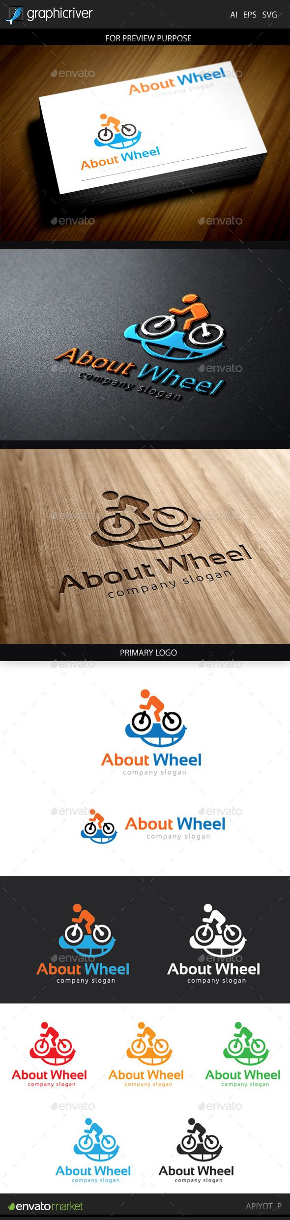 About Wheel Logo — Vector EPS #draft #vector • Available here → https://graphicriver.net/item/about-wheel-logo/9661533?ref=pxcr