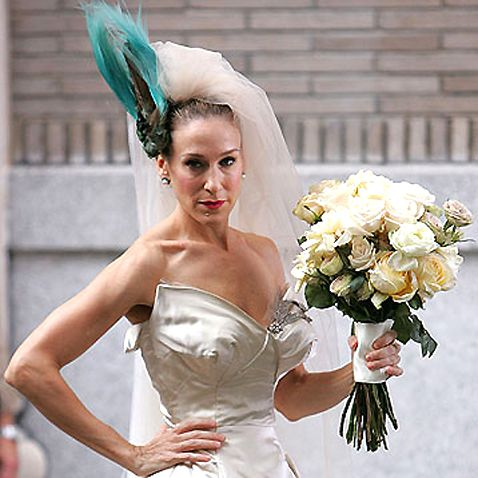 Carrie Bradshaw's wedding bouquet