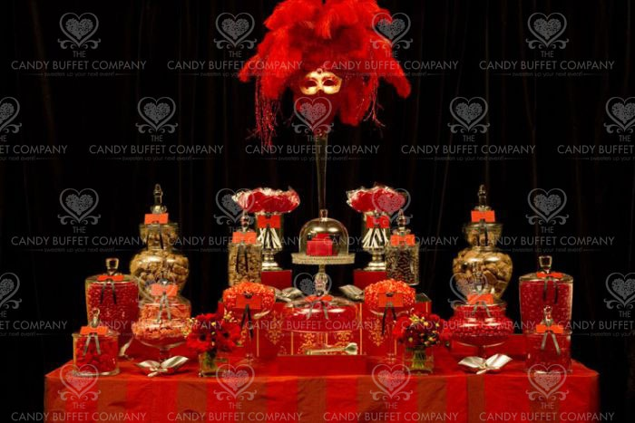 Red candy buffet | Hollywood Red Carpet Party | Pinterest ...
