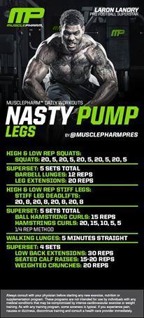 Nasty Pump Legs