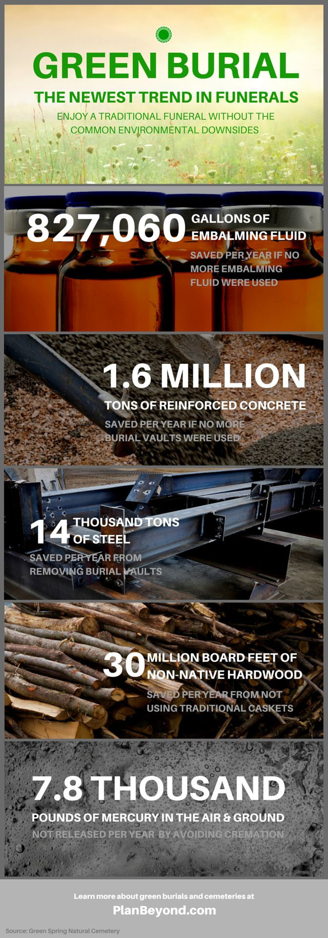@mollycgilbreath this is what I told you and your dad I want one day. Green Burial Infographic - PlanBeyond