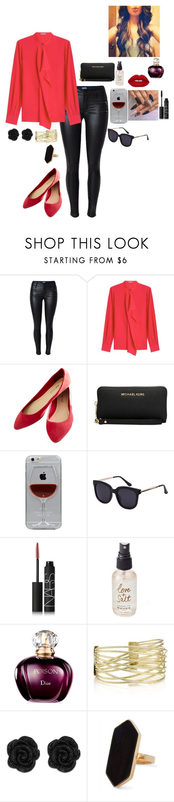 """classy"" by emilyxcourtney ❤ liked on Polyvore featuring beauty, Agnona, Wet Seal, Michael Kors, Reyes, NARS Cosmetics, Olivine and Jaeger"
