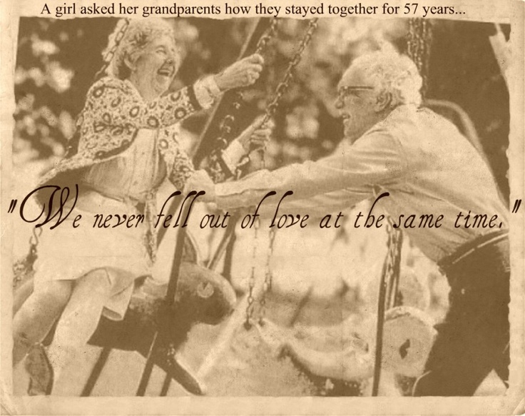 """""""We never fell out of love at the same time.""""Old Age, Life, Young At Heart, Happy, Swings, Old Couples, Beautiful, True Love, People"""