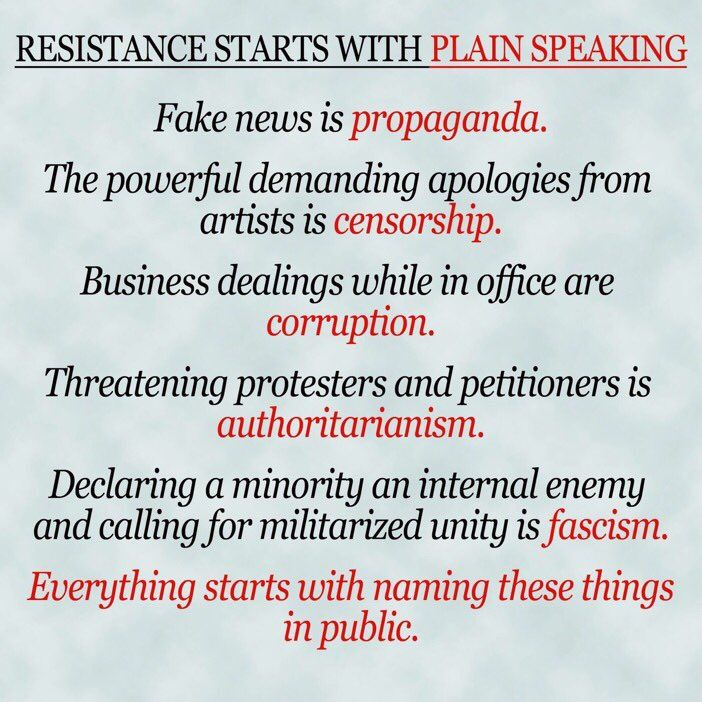 Plain Speaking ... What may be coming, What we must resist and fight against together!!