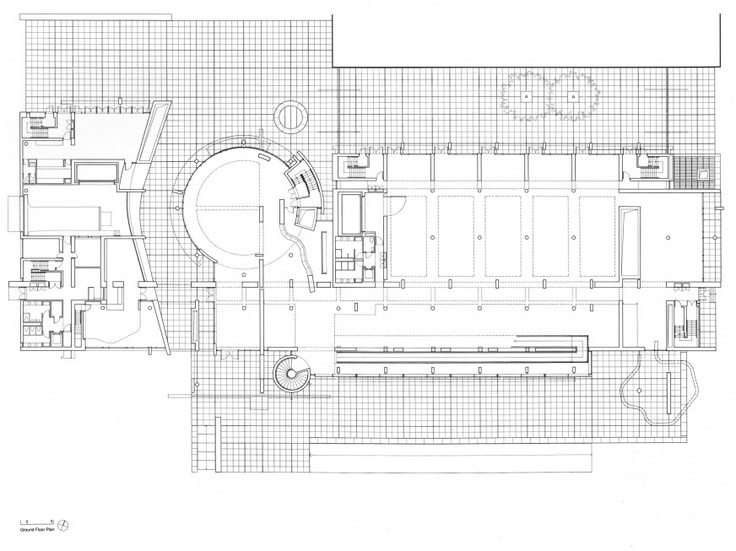 Ground Floor Plan of BMCA by Richard Meier. | Richard ...