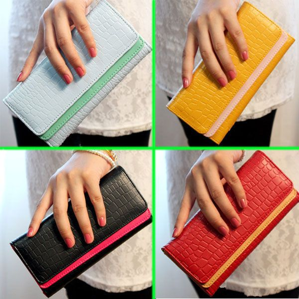 New Card Coin Long Lady Purse Women's Clutch PU Leather Wallet Gift Bag 9 Color $9.90 (free shipping)