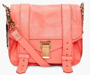 Coral messenger bag.obsessed!: Shoulder Bags, Proenza Schouler, Messenger Bags, Neon Coral, Color, Coral Bags, Summer Bags, Pouch Bags, Leather Bags