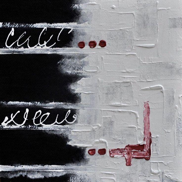 Jazykové bariéry  2/2016  akryl, kombinovaná technika  50×50 cm, sololit