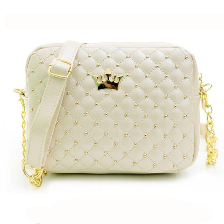 Mance Fashion Women Bags Rivet Chain Shoulder Bag Leather Cross Messenger body Clutch Tote Satchel Brand Wallets
