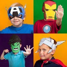 Kostenlose Comic-Helden Masken für Kinder zum Ausdrucken | FRESHDADS Väter – Helden – Idole
