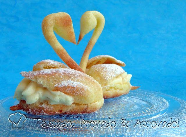 Testado, Provado e Aprovado!: CISNES & CARANGUEJOS (PÂTE À CHOUX) - Desafio Daring Bakers - Agosto / 2012