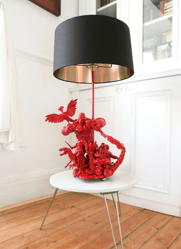 Action Figures Reborn into AWESOME Lamps. This might even be something I could DIY... To the garage sales!