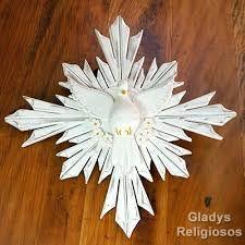 Resultado de imagem para divino espirito santo em madeira