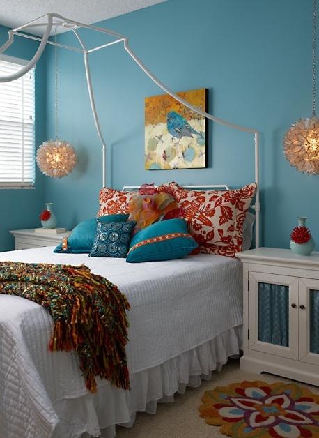 Orange and teal home decor ideas pinterest - Orange and teal decor ...