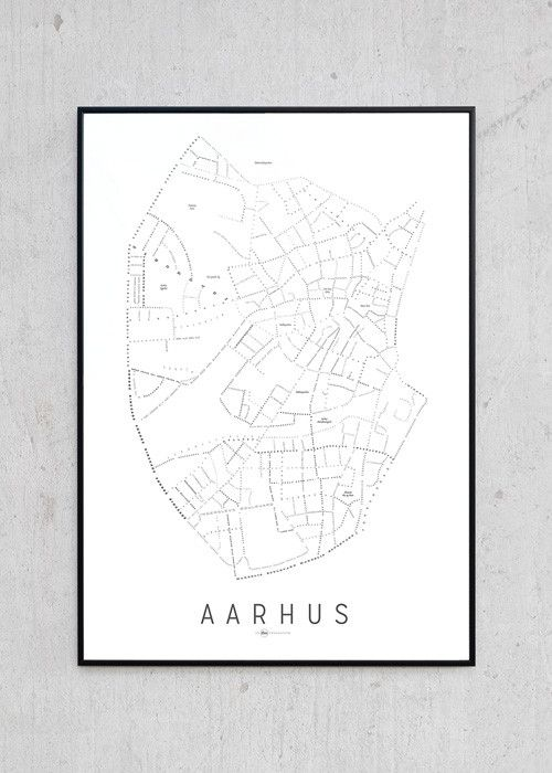 Aarhus Kort - Hvid | Just Spotted