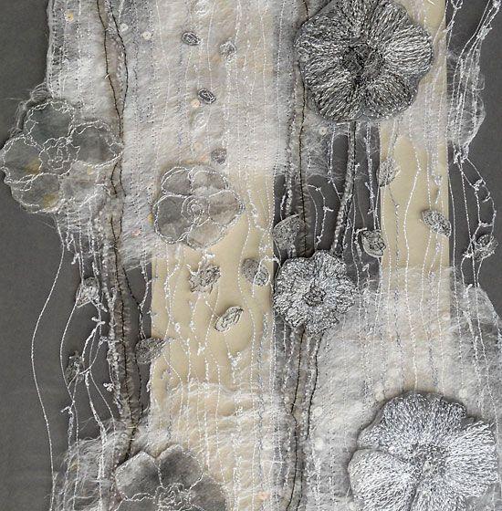 textile art by Kirstine Higgins . vintage fragment