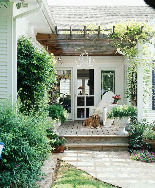pretty patio pergolas- outside the back door