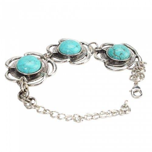 Three Flowers Turquoise Bracelet 02 | favwish - Jewelry on ArtFire