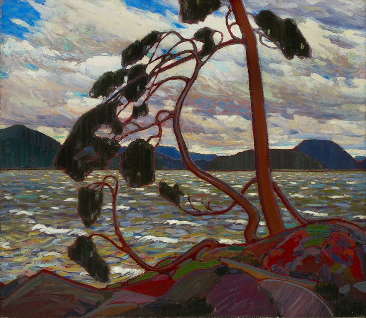 """Arthur Lismer saw Thomson's """"The West Wind,"""" (1916–17, Art Gallery of Ontario) as symbolic of the Canadian character—firm and resolute against adversity."""