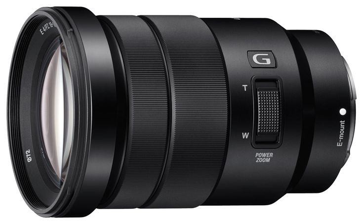 Sony - E PZ 18-105mm f/4.0 G OSS Power Zoom Lens for Select Sony E-Mount Cameras - Black - Larger Front