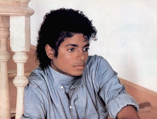 Michael Jackson 1981 - 1990.  Love this photo of him.