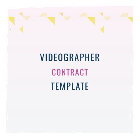 130 best contract templates images on Pinterest Finance - videography contract template